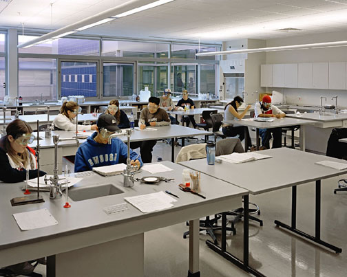 Popular Science Blog - High School Science Gets Serious High School Science Classroom