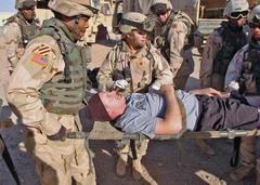 Mock_injured_soldier